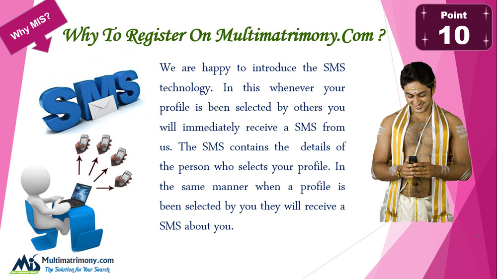 Multimatrimony Introduce the SMS Technology - Register now Multimatrimony.com