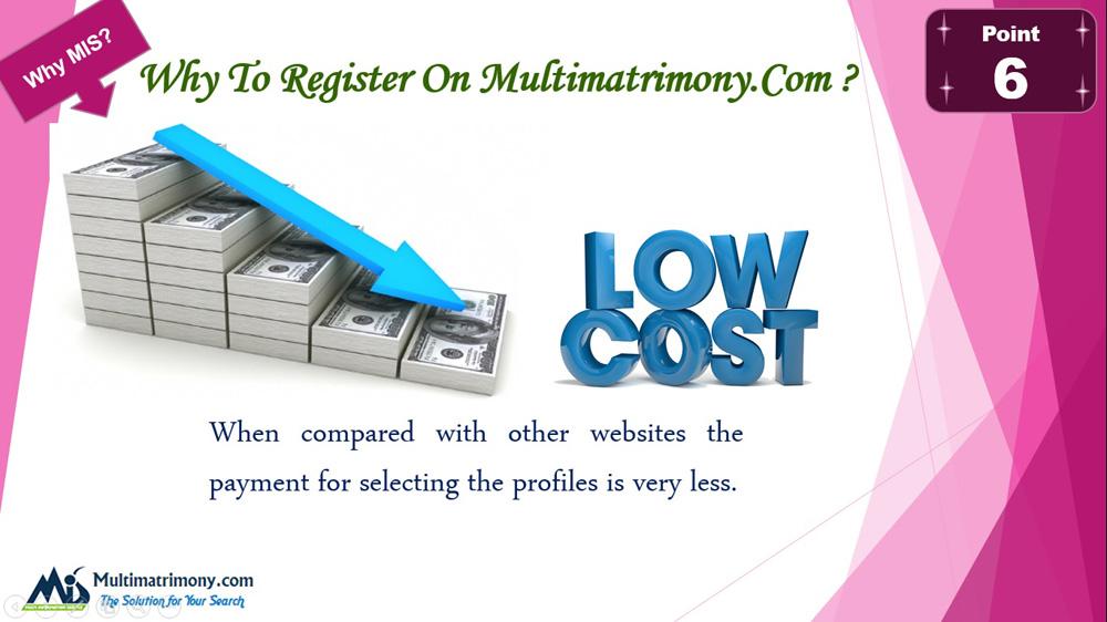 Low cost Matrimonial website - Register now Multimatrimony.com