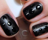 Black Color Nail art