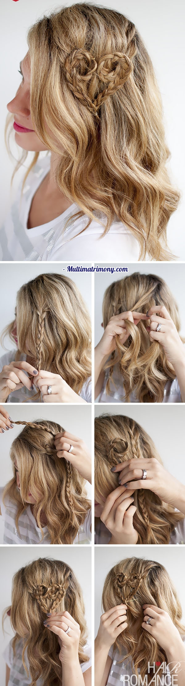 Heart Braid Tutorial from Hair Romance