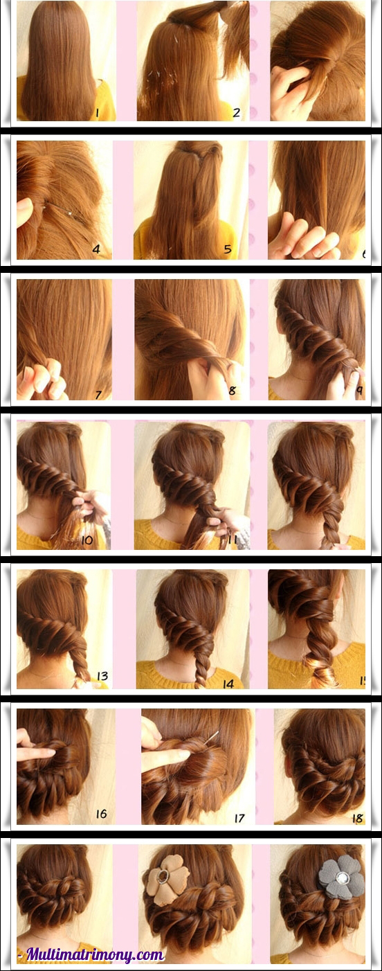Simple braid hair style