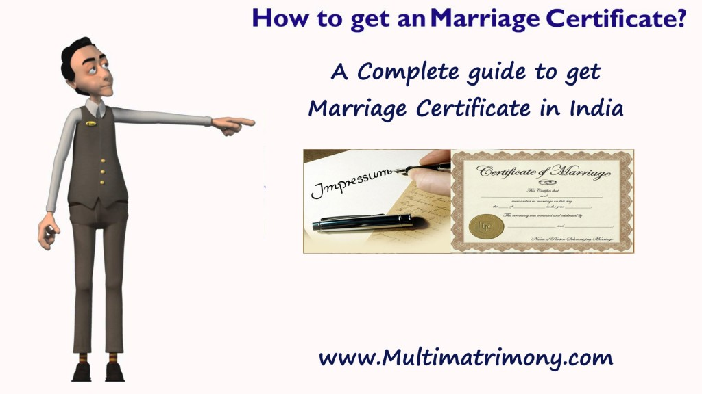 How To Get Marriage Certificate?