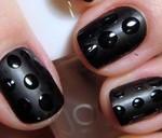 Black Color Nail art